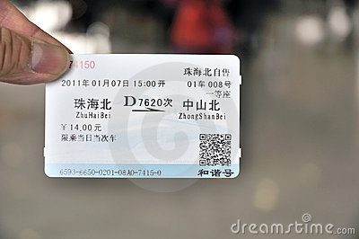 Train ticket Editorial Stock Image