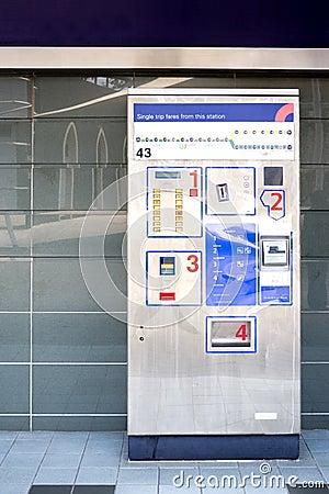 Free Train Ticket Dispenser Royalty Free Stock Photo - 3495195
