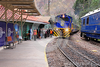 Train to Machu Picchu. Editorial Stock Image