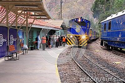 Train to Machu Picchu. Editorial Stock Image