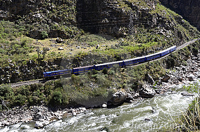 Train to Machu Picchu with Urubamba river