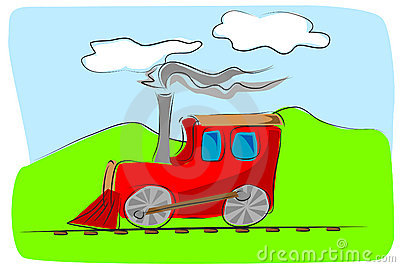 Train toy kids illustration