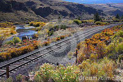 Train track in Colorado