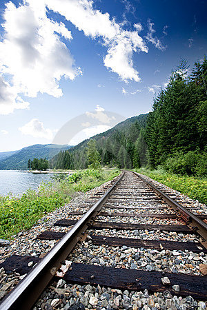 Free Train Tracks Royalty Free Stock Image - 6112376