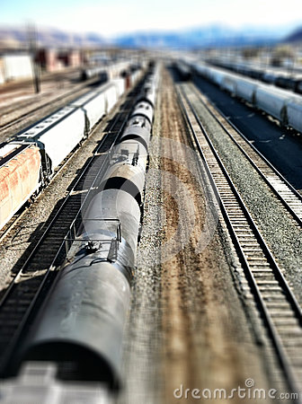 Free Train, Tracks And Miniature Effect Stock Image - 27540721