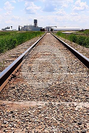 Free Train Tracks To Mine Site Royalty Free Stock Photo - 15490435