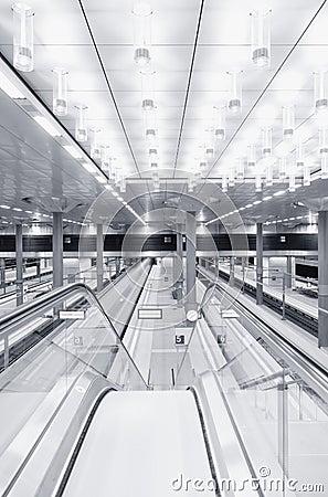 Train traffic with high dynamic motion blur