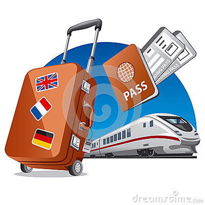 Train travel Vector Illustration