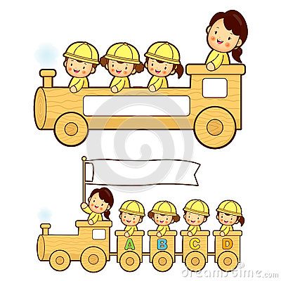 The train trip is an enjoyable kindergarten student. Education a