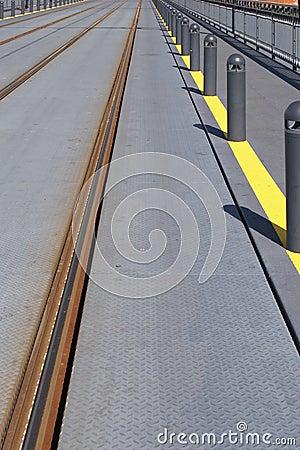 Train or trolley track