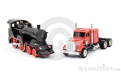 Train and truck toys