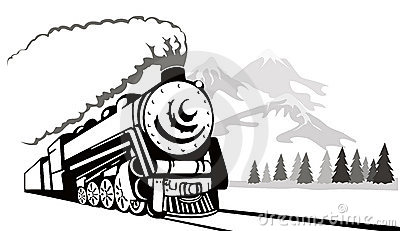 Train vintage travelling