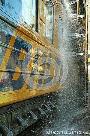 Free Train Wash 4 Stock Photo - 843120