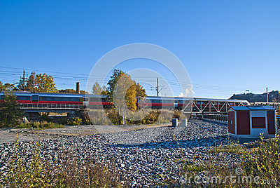 Train on the way to halden station