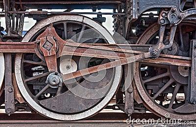 Train wheel detail
