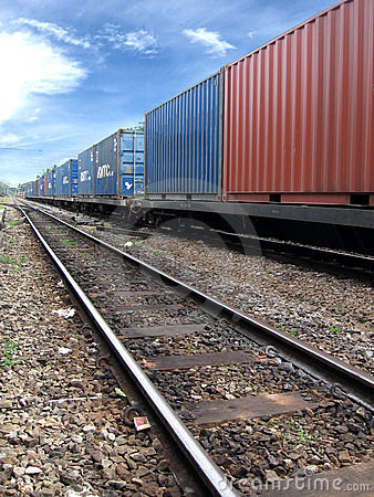 Free Train With Cargo Stock Image - 4673761