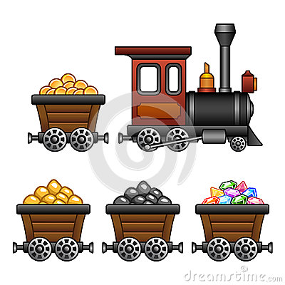 Free Train With Mine Tubs Stock Photography - 37242042