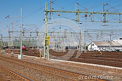 Train yard in sweden