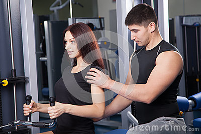 Trainer in a fitness center