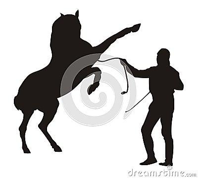 Horse Trainer Stock Photo