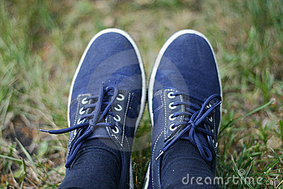 Trainers on the grass