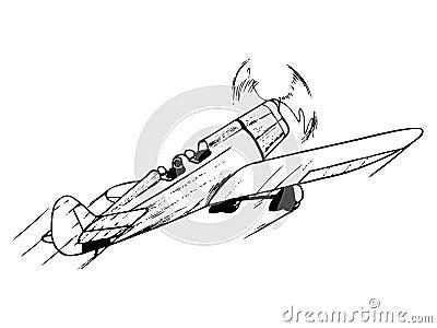 Training airplane in flight