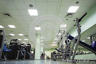 Training apparatus in large sport club
