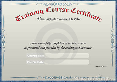 Pics Photos Blank Certificate Completion Home Design 2017 – Free Training Certificate Template