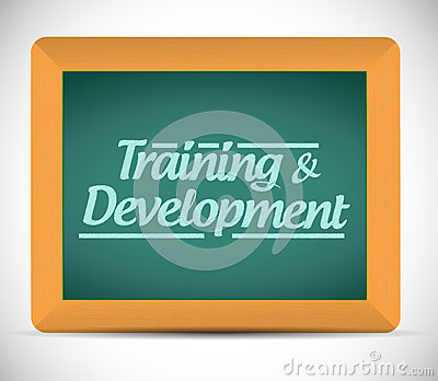 Training and development message illustration