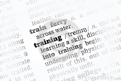 Training Dictionary Definition