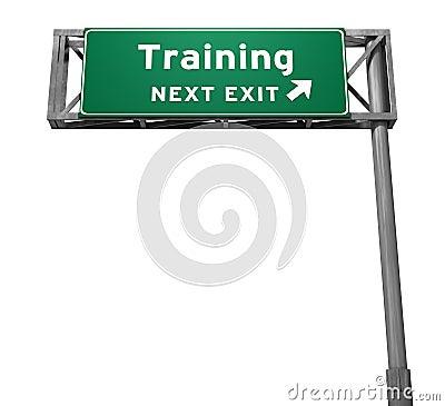 Free Training - Freeway Exit Sign Stock Photo - 16136550