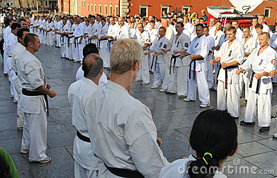 Training Kyokushin Karate Editorial Stock Photo