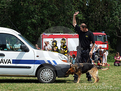 Training a police dog Editorial Photo