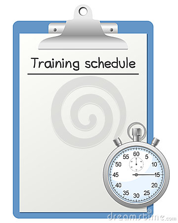 Training Schedule and Stopwatch