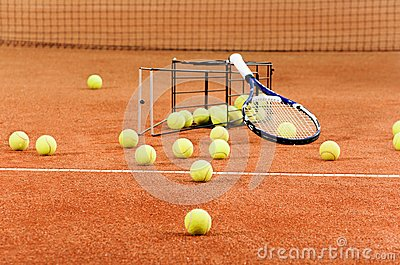 Training Tennis Equipment Royalty Free Stock Photos - Image: 26544968