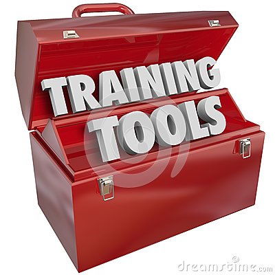 Free Training Tools Red Toolbox Learning New Success Skills Royalty Free Stock Photos - 36106428