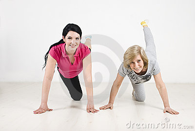 Training women with legs up