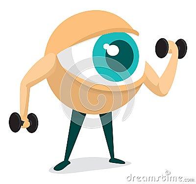 Free Training Your Eye Royalty Free Stock Image - 137660766