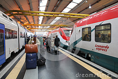 Trains in Italy Editorial Stock Image