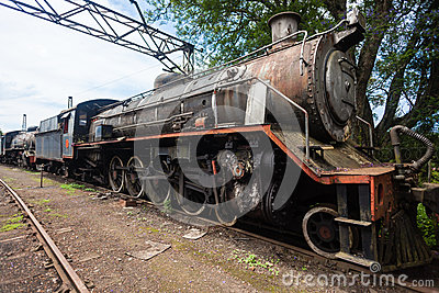 Trains Scrapped Steam Locomotives Editorial Stock Image