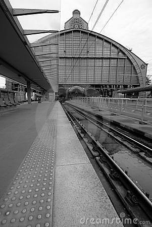 Trainshed and platforms of Antwerp Central Station