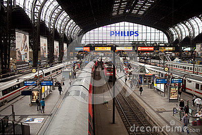 Trainstation Hamburg Editorial Photography