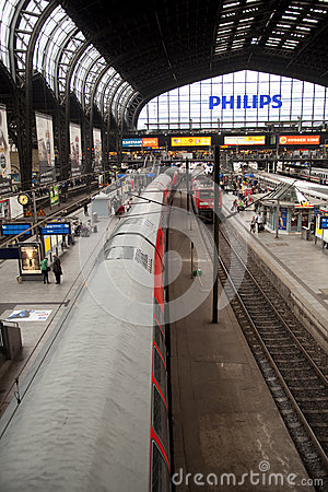 Trainstation Hamburg Editorial Image