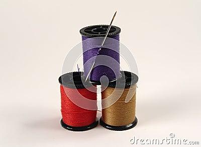 Traitements différés de couture colorés
