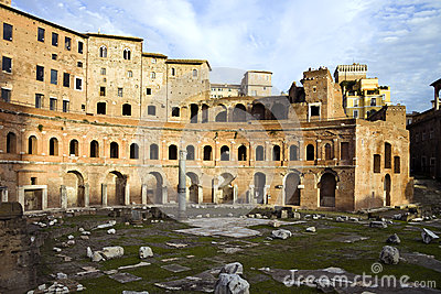 The Trajan market and it s ruins, Rome, Italy