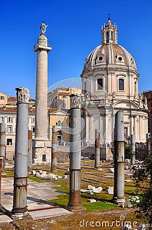 Free Trajan S Column (Colonna Traiana) Royalty Free Stock Image - 19555466
