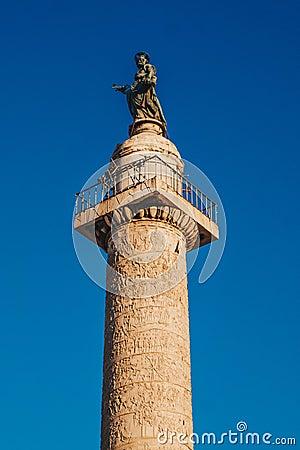 Free Trajan`s Column Colonna Traiana In Rome, Italy. Commemorates R Stock Image - 110464211