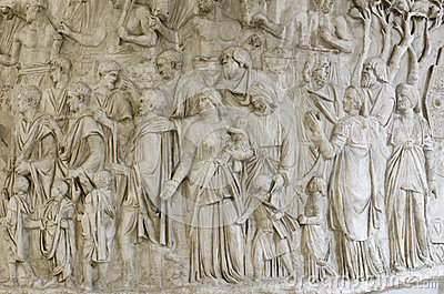 Trajan s column detail Editorial Stock Photo