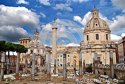 Trajan`s Market in Rome
