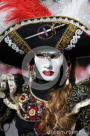 Traje Venetian do carnaval